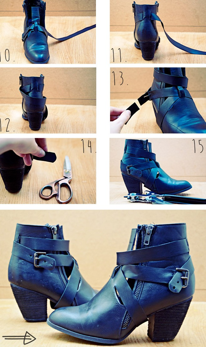 Picture Of trendy diy cut ankle boots  5