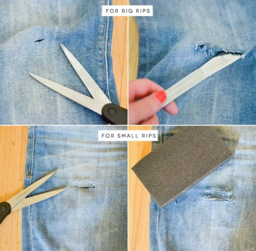 Trendy DIY Distressed Boyfriend Jeans