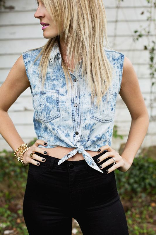 Picture Of trendy diy tied crop top to make for this summer  1
