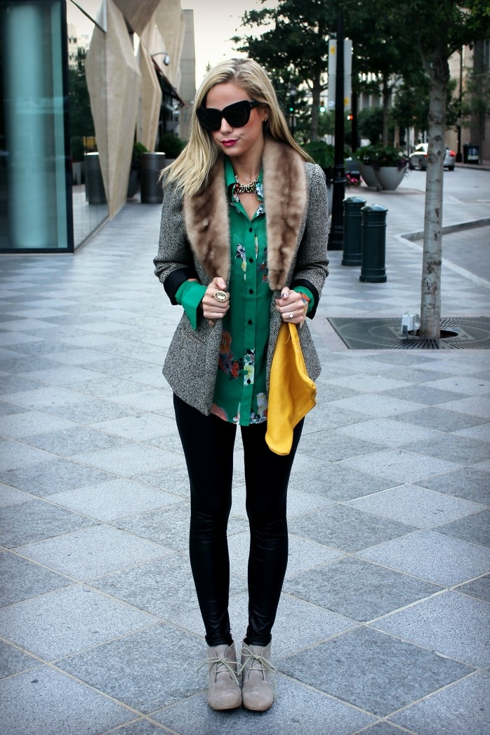 Picture Of trendy fall layer looks with fur  9