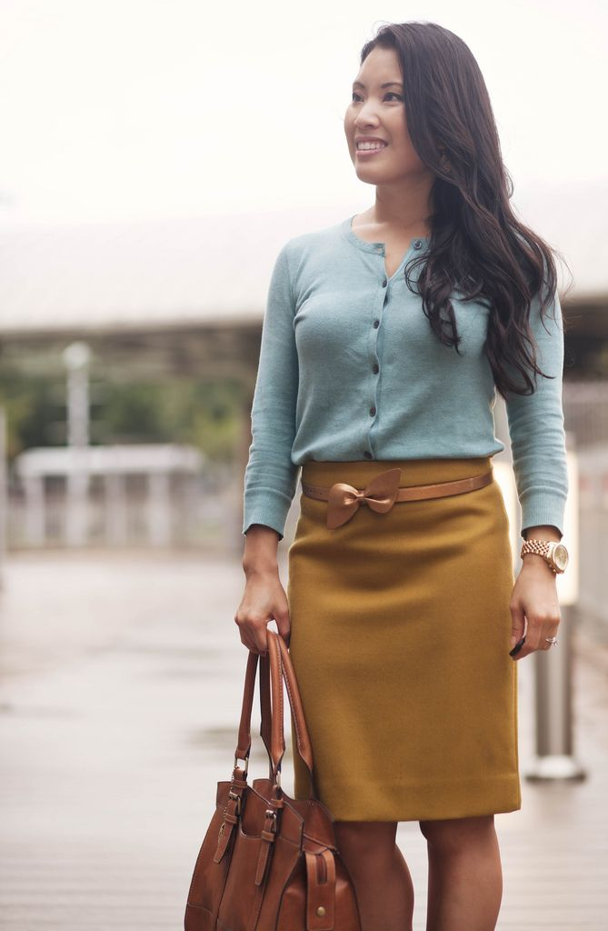 Picture Of trendy mint work outfits  1