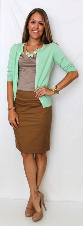Picture Of trendy mint work outfits  10