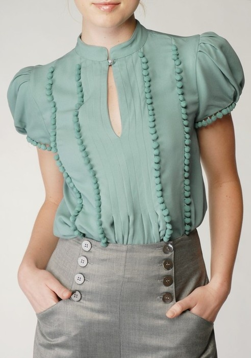 Picture Of trendy mint work outfits  14