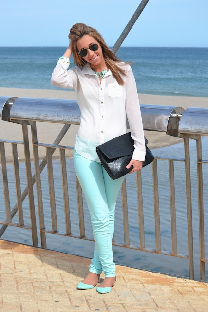 Picture Of trendy mint work outfits  15