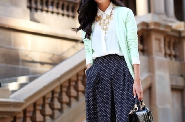 Picture Of trendy mint work outfits  17