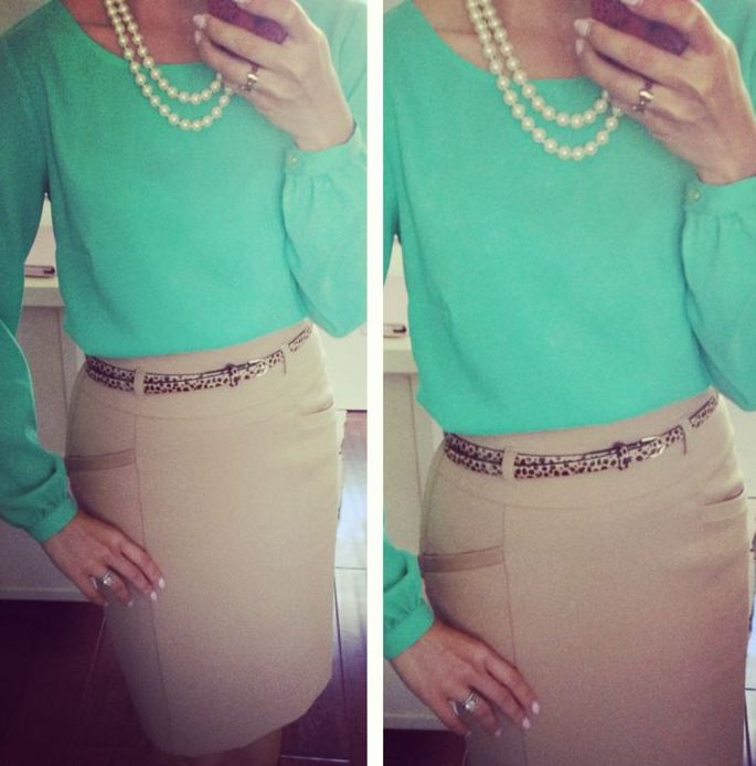 Picture Of trendy mint work outfits  3