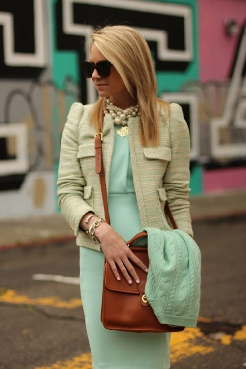 Picture Of trendy mint work outfits  7