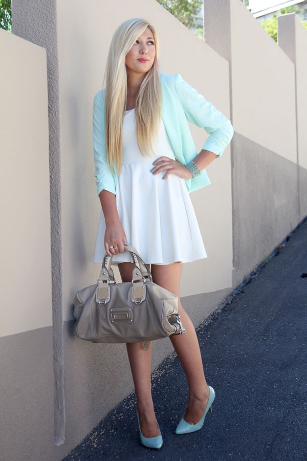 Picture Of trendy mint work outfits  8