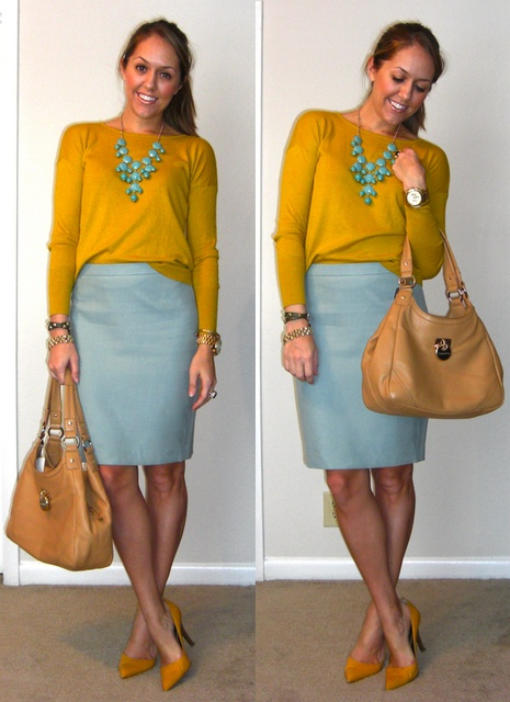 Picture Of trendy mint work outfits  9