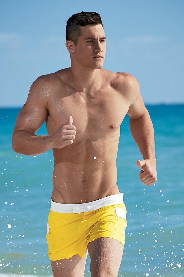 of trendy short swim trunks for men 12