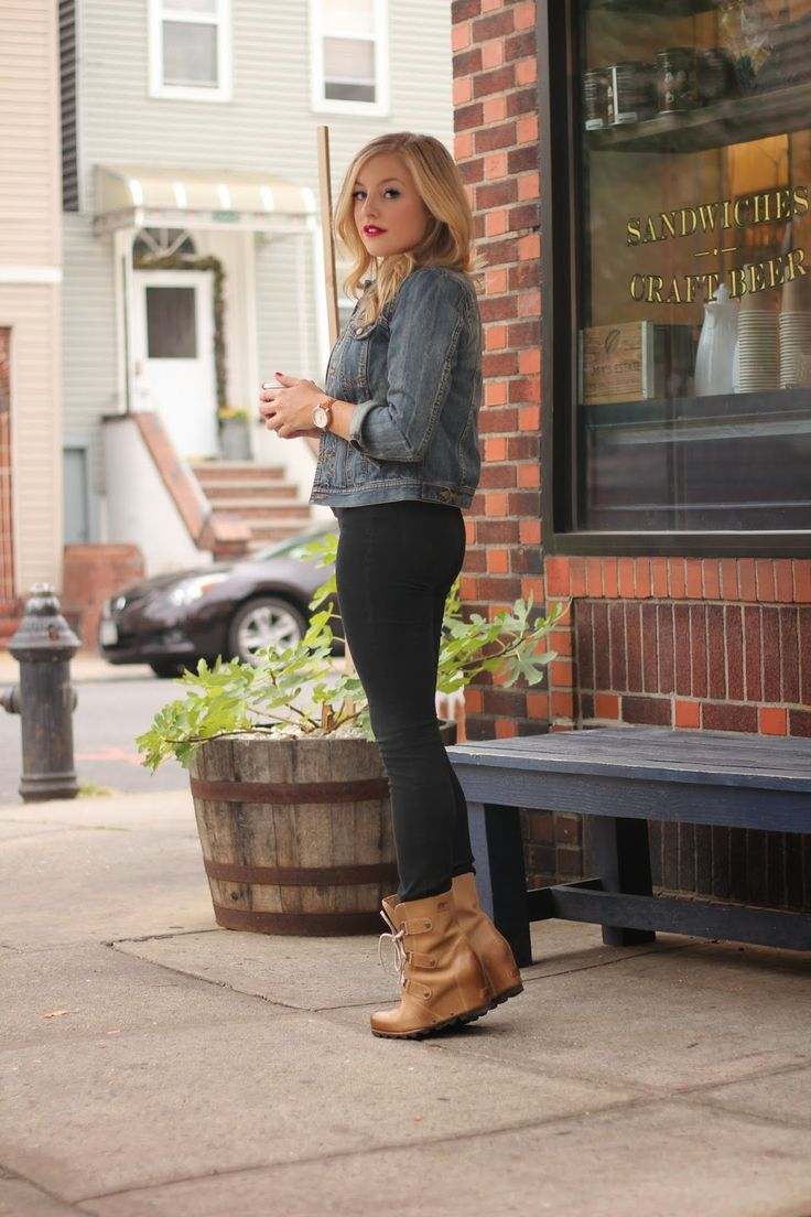 Picture Of trendy wedges boots outfits to rock in the fall  20