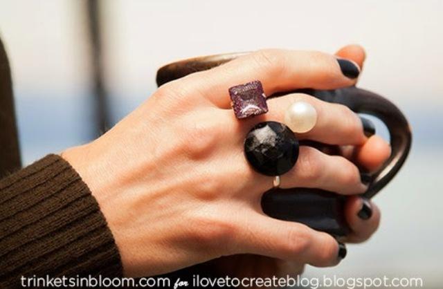Picture Of unique diy geo multi finger ring  1