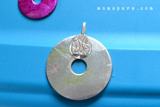 Picture Of unique diy marbled washer necklace  5
