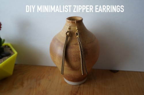 Unique DIY Zipper Earrings