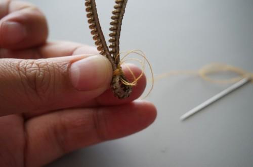 Unique DIY Zipper Earrings