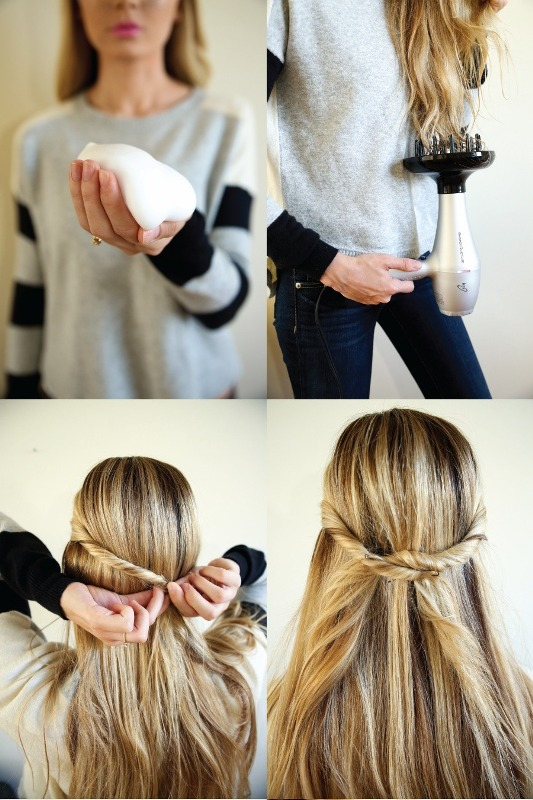 Picture Of unusual diy the twist and pull apart hairstyle  2