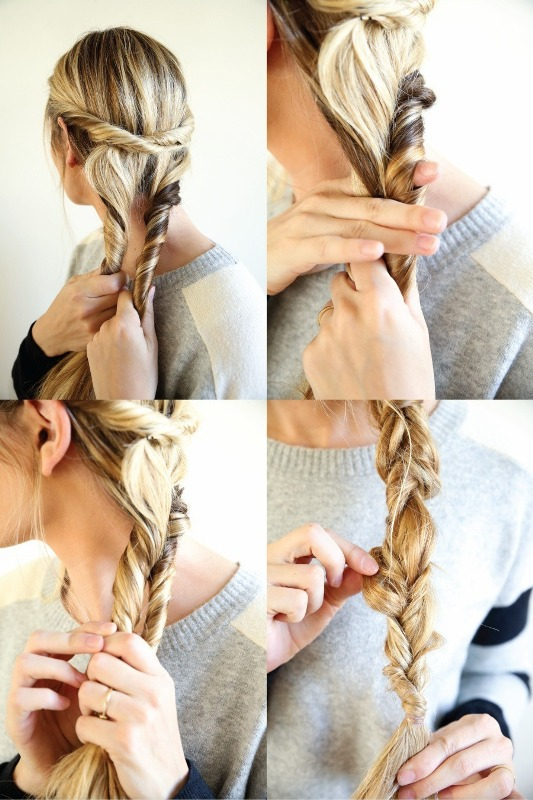 Picture Of unusual diy the twist and pull apart hairstyle  3