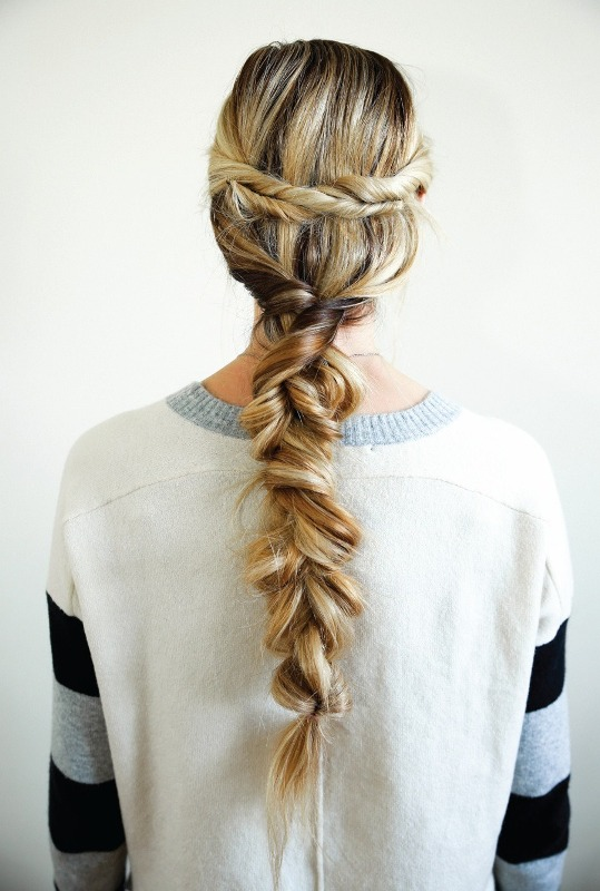 Picture Of unusual diy the twist and pull apart hairstyle  4