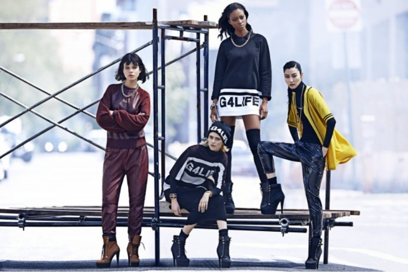 Picture Of urban and chic rihanna for river island fall 2013 campaign  3