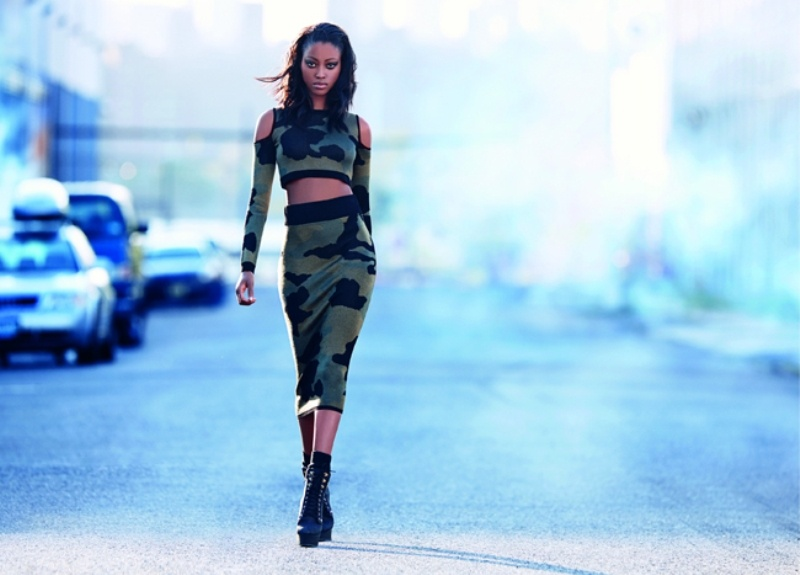 Picture Of urban and chic rihanna for river island fall 2013 campaign  8