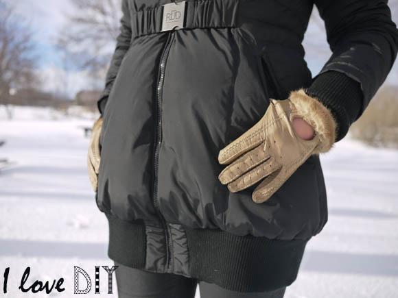 fur gloves refashion