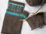 fair aisle fingerless gloves