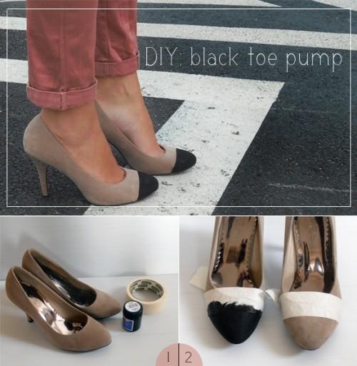 Very Easy DIY Black Toe Pump