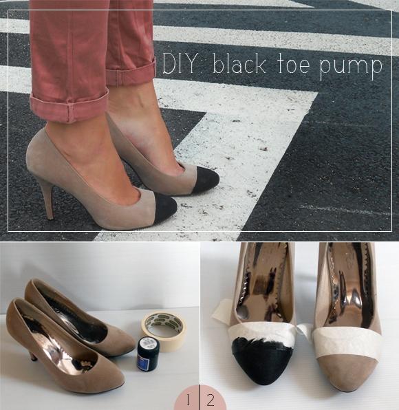 Picture Of very easy diy black toe pump  1