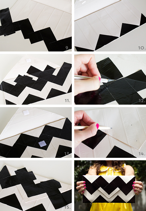 Picture Of very easy diy chevron clutch  5