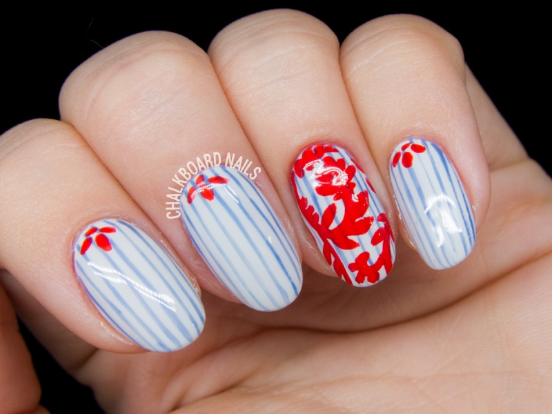 Picture Of vibrant diy nail art inspired by tory burch  2