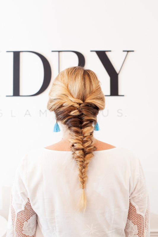 Picture Of voluminous and pretty diy topsy tail braid hairstyle to try  1