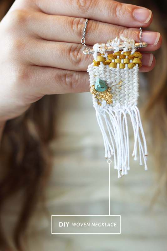 Picture Of whimsy and original diy woven necklace  1