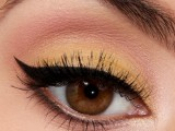 whimsy-diy-canary-yellow-makeup-with-winged-eyeliner-1