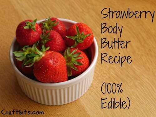 strawberry body butter (via craftbits)